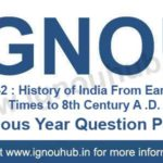 IGNOU EHI 2 Question Paper