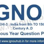 IGNOU EHI 3 Question Paper