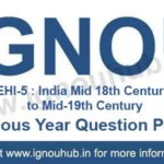 IGNOU EHI 5 Question Paper