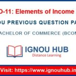 IGNOU ECO 11 Question Paper