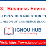 IGNOU ECO 13 Question Paper