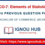 IGNOU ECO 7 Question Paper
