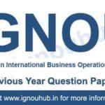 IGNOU PGDIBO Question Paper
