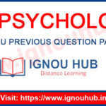 ignou ma psychology previous question papers
