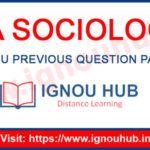 IGNOU MA Sociology Question Papers