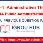 IGNOU EPA 1 Question Paper
