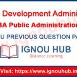 IGNOU EPA 3 Question Paper