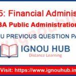 IGNOU EPA 5 Question Paper