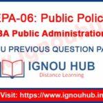 IGNOU EPA 6 Question Paper
